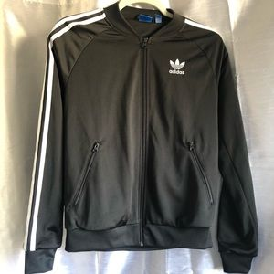 Adidas Women Trefoil black Zip up track jacket